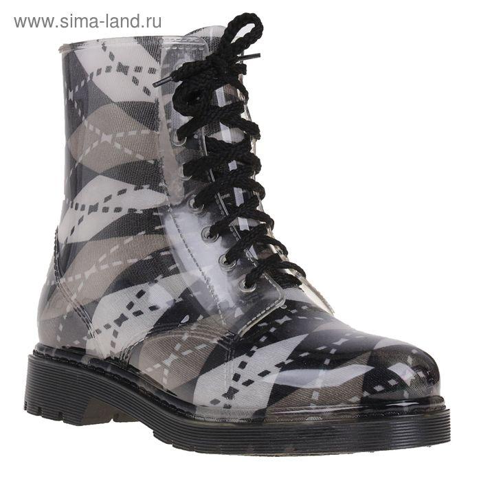 Сапоги (ботинки) женские с утеп арт.12 на шнуровке-1 (МИКС) (р. 37)