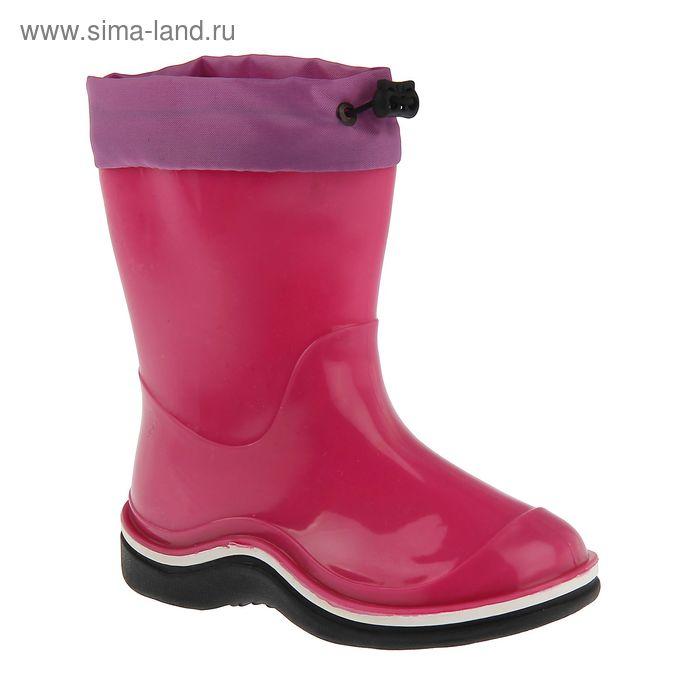 Сапоги детские с утеп арт.106К с надставкой (розовый) (р. 24)