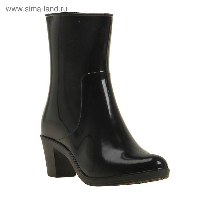 Сапоги женские с утеп арт.8 на каблуке с молнией (черный) (р. 40)