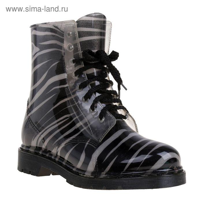 Сапоги (ботинки) женские с утеп арт.12 на шнуровке-1 (МИКС) (р. 40)