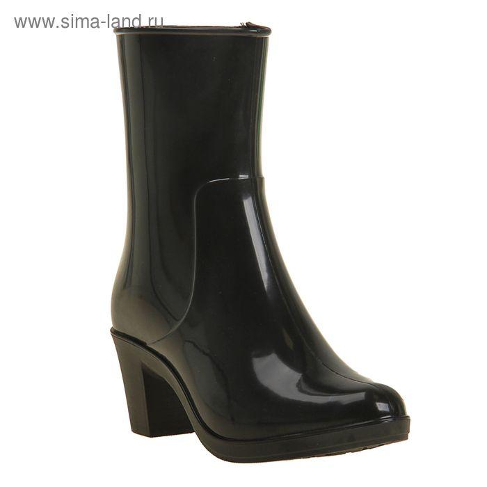 Сапоги женские с утеп арт.8 на каблуке с молнией (черный) (р. 36)