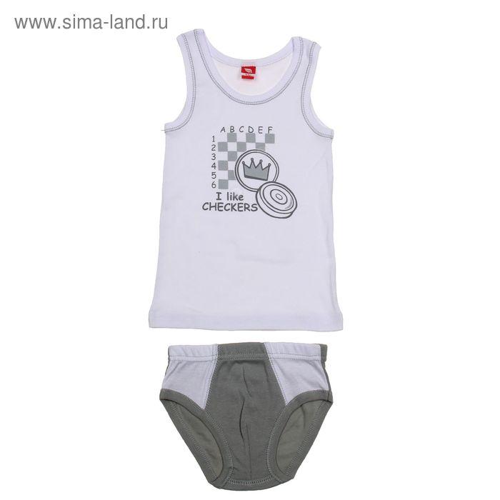 Комплект для мальчика (майка+трусы), рост 92 см (52), цвет серый (арт. CAK 3373_М)