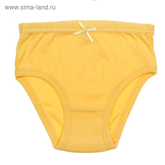 Трусы для девочки, рост 146 см (76), цвет жёлтый (арт. CAJ 1366)