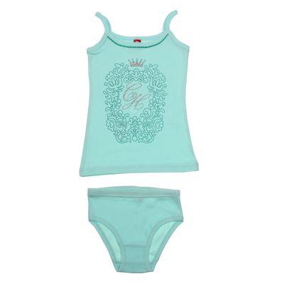 Комплект для девочки (майка+трусы), рост 152-158 см (80), цвет светло-бирюзовый