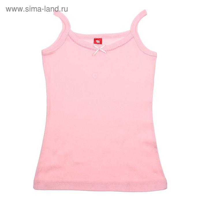 Майка для девочки, рост 140 см (72), цвет светло-розовый (арт. CAJ 2241)