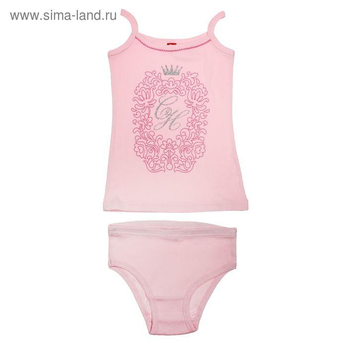 Комплект для девочки (майка+трусы), рост 140 см (72), цвет светло-розовый (арт. CAJ 3375)