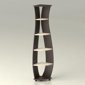 Стойка угловая «Бриз», 340 × 340 × 1 830 мм, венге / дуб млечный