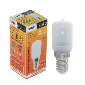 Лампа светодиодная Ecola, T25, 3 Вт, E14, 4000 K, 340°, для холодильников и швейных машин