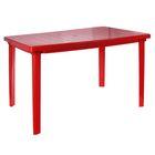 Стол прямоугольный, размер 120 х 85 х 75 см, цвет красный