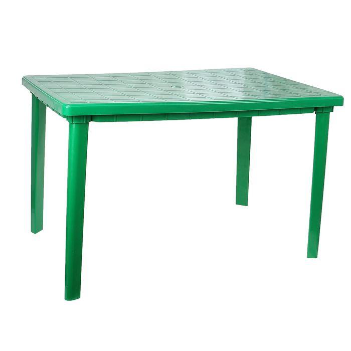Стол прямоугольный, размер 120 х 85 х 75 см, цвет зелёный