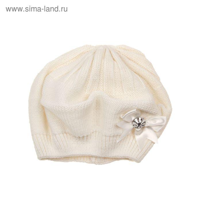 """Берет для девушек """"КСЮША"""" демисезонный, размер 54-56, цвет белый 160710"""