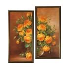 """Модульная картина в раме """"Оранжевые бутоны"""", 50×60 см, рама микс"""