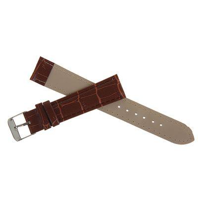 Ремешок для часов, 18 мм, 19 см, коричневая рептилия