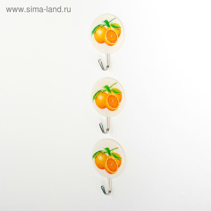 """Набор крючков на липучке """"Апельсин"""", 3 шт"""