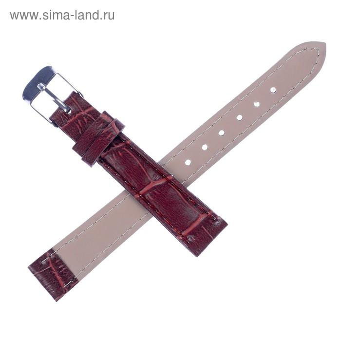 Ремешок для часов, 14 мм, 19 см, коричневая рептилия