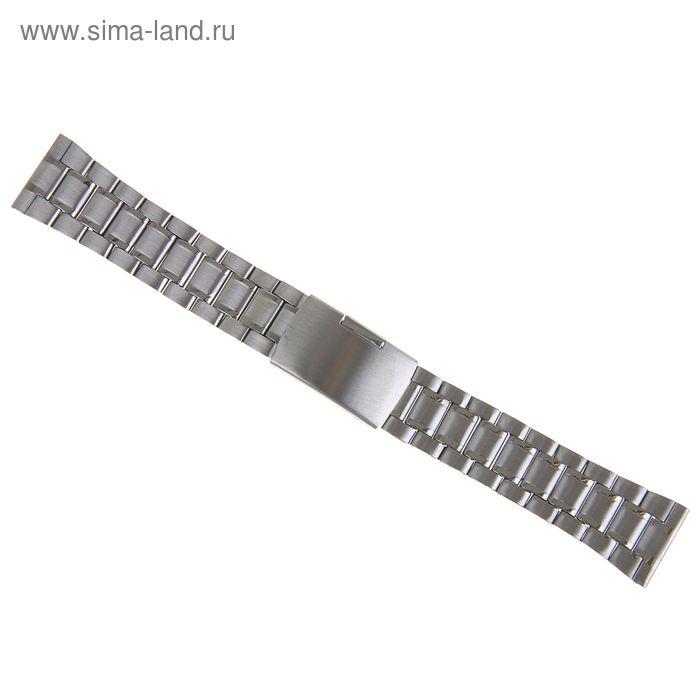Ремешок для часов, серебрист, присоед. р-р 22 мм, металл, муж