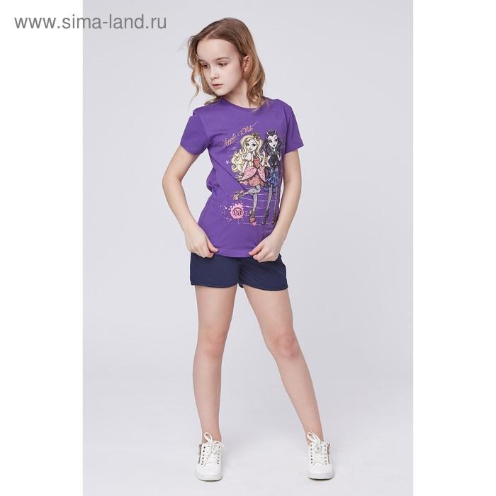 """Футболка для девочки """"Ever After High"""", рост 128 см (68), цвет фиолетовый (арт. ZG 02240-L2_Д)"""
