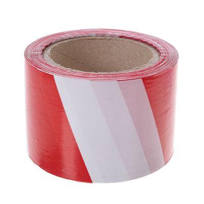 Лента оградительная,эконом, красно-белая,ширина 7,5 см, 100 м