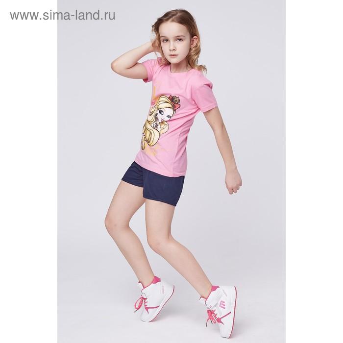 """Футболка для девочки """"Ever After High"""", рост 128 см (68), цвет розовый (арт. ZG 02254-Р2_Д)"""