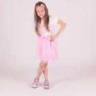 Комплект для девочки (футболка, юбка), рост 92 см (52), цвет розовый/молочный ZG 17019-PV1 FA_М 1333