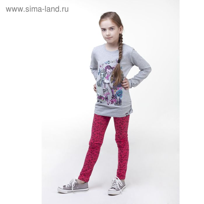 Джемпер для девочки, рост 140 см (72), цвет серый меланж (арт. ZG 03550-М2_Д)