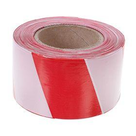 Лента оградительная, красно-белая,ширина 7,5 см, 250 м Ош