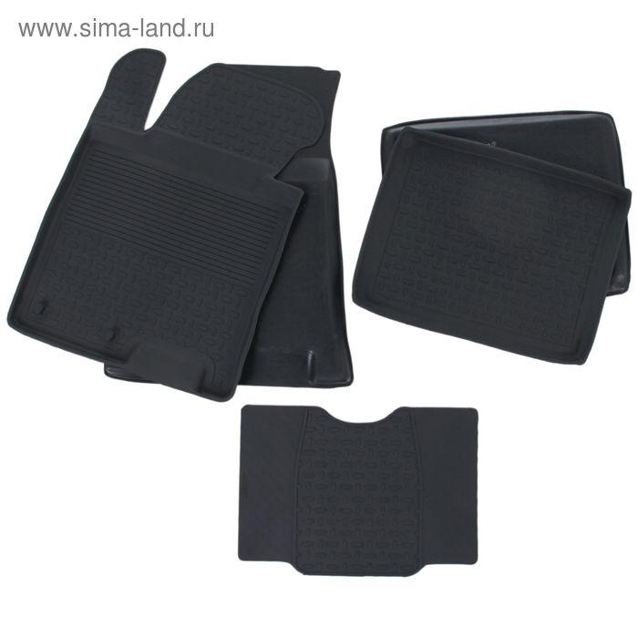 Комплект резиновых ковриков Hyundai i40 с высоким бортом