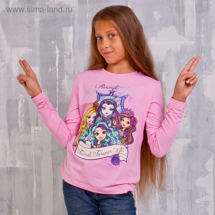 Джемпер для девочки, рост 128 см (68), цвет розовый (арт. ZG 03390-P2_Д)