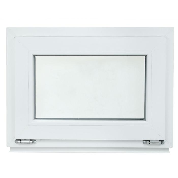 Окно ПВХ с подрамником, фрамуга, одно стекло, 700 х 500 мм