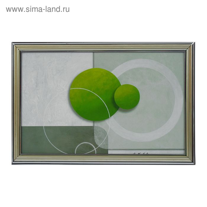 """Картина """"Два зелёных круга"""""""
