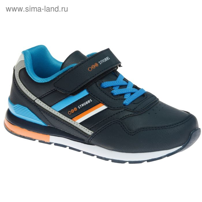 Кроссовки подростковые STROBBS, цвет синий, размер 32 (арт. N1545-2)