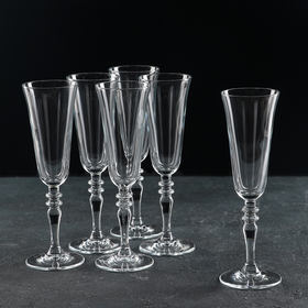 A set of champagne glasses 190 ml Vintage, 6 pcs