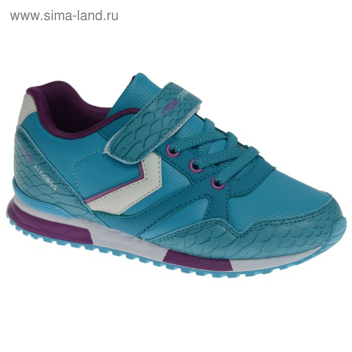 Кроссовки подростковые STROBBS, цвет бирюзовый, размер 33 (арт. N1549-13)