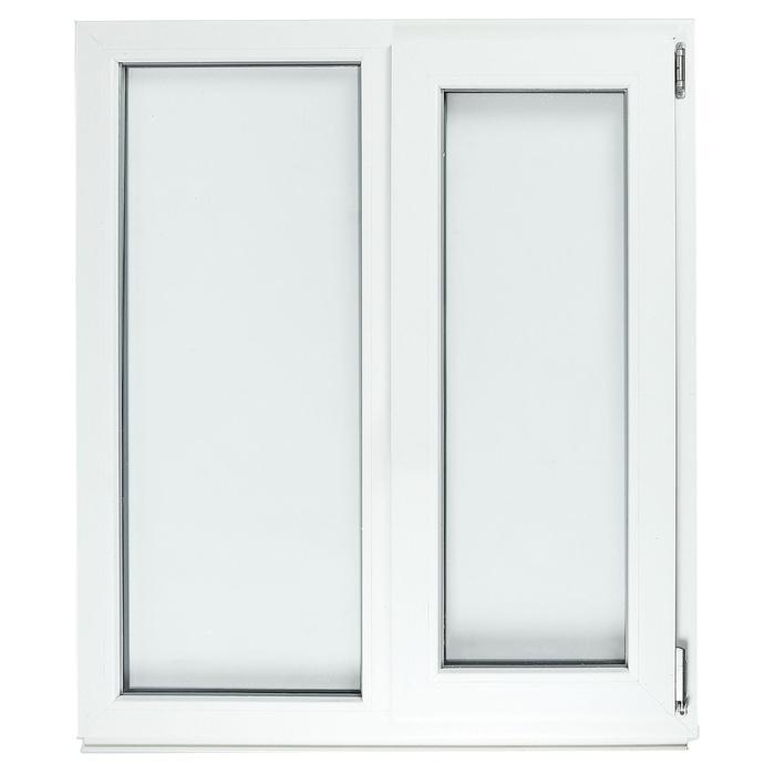 Окно ПВХ с подрамником, правое, поворотно-откидное, энергосберегающее однокамерное, 1000 х 1150 мм