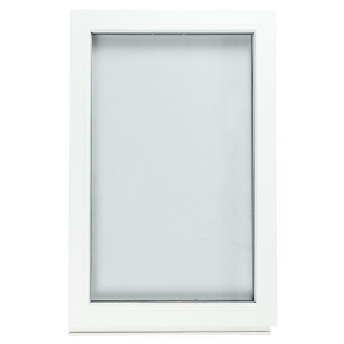 Окно ПВХ с подрамником, глухое, однокамерное, 600 х 900 мм
