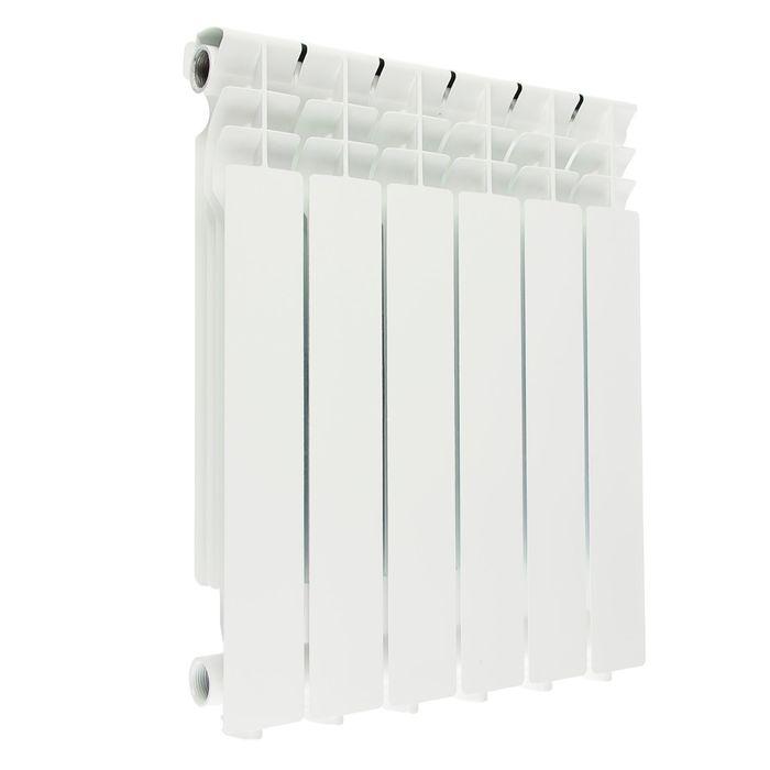 Радиатор алюминиевый Halsen 500/80/6 (М), 500х80 см, 6 секций, литой