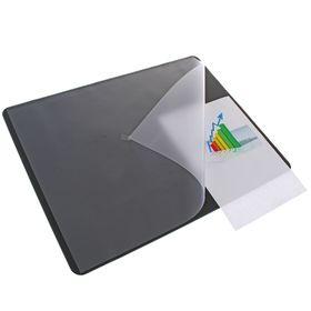 Накладка на стол Durable, 530 × 400 мм, нескользящая основа, чёрная