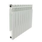 Радиатор Halsen 500/80/10 (М), алюминиевый, межосевое 500, глубина 80, 10 секций, литой