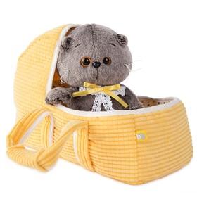 Мягкая игрушка «Басик BABY», в люльке, 20 см