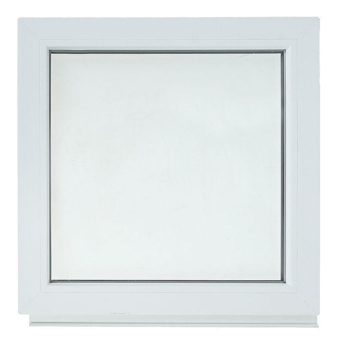Окно ПВХ с подрамником, глухое, однокамерное, 600 х 600 мм
