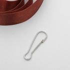 Карабин металлический, h=35мм, никель