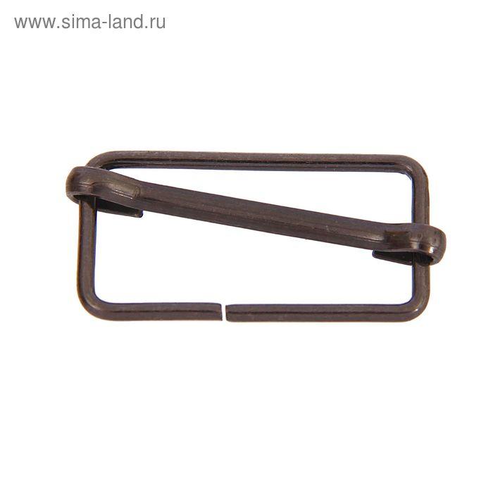 Пряжка регулирующая металлическая, 25мм, цвет чёрный никель