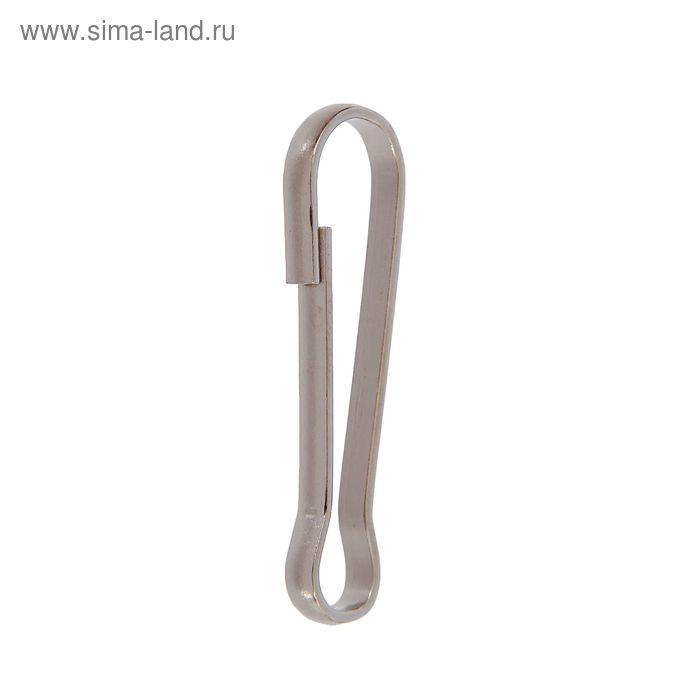 Карабин металлический, h=41мм, никель