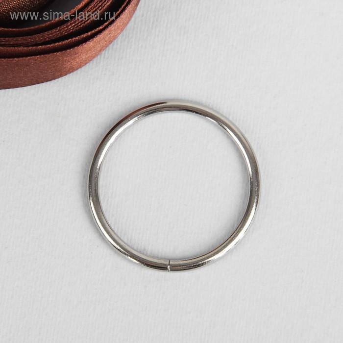 Кольцо металлическое, 35х3мм, цвет никель