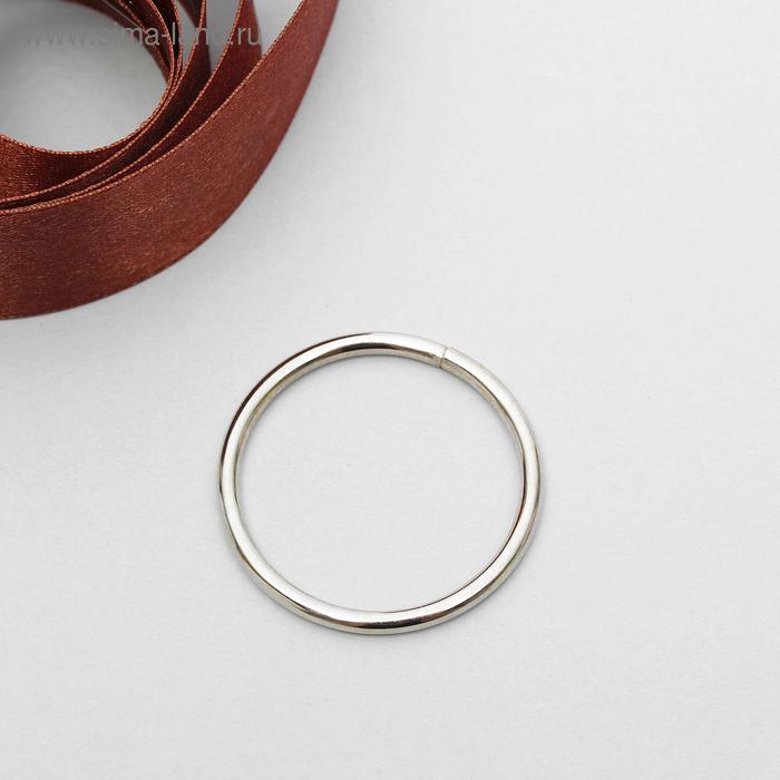 Кольцо металлическое, 30х2,5мм, цвет никель