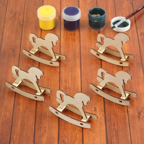 "A set of pieces for creativity ""rocking Horse"", 5 PCs"