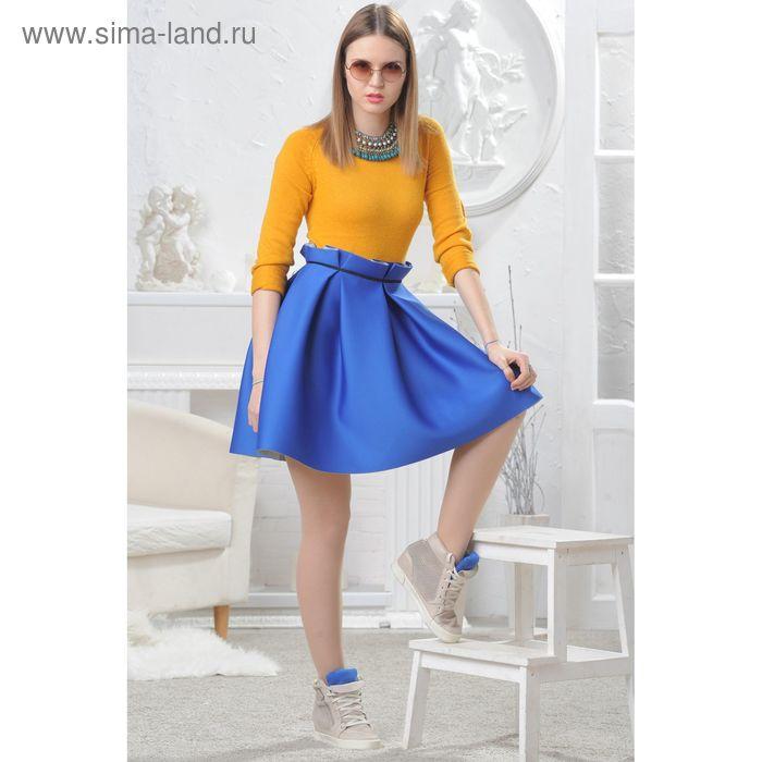 Юбка женская 4574, размер 42, рост 164 см, цвет синий