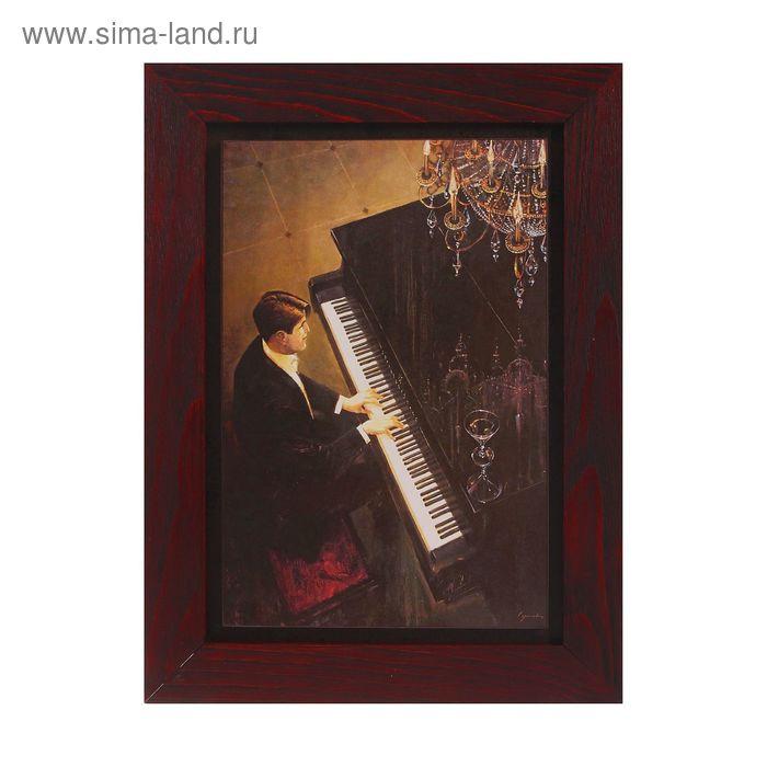 """Картина в раме """"Мужчина за роялем"""""""