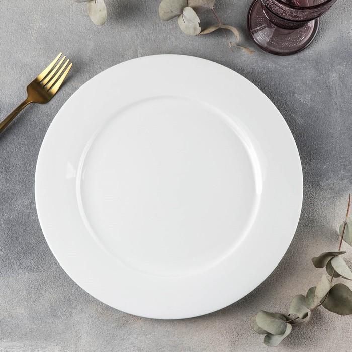 Тарелка обеденная Wilmax Stella «Классика», d=28 см, цвет белый - фото 308066681