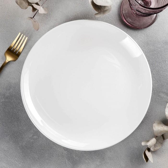 Тарелка обеденная Wilmax Olivia Pro, d=25,5 см, с утолщённым краем - фото 308066717